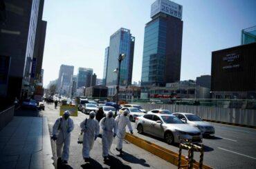 Desinfektan virus corona di Korea Selatan