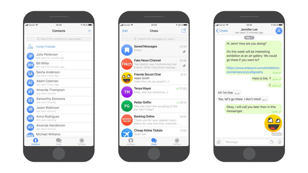 Messaging App Vector Mockup