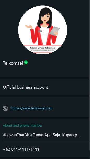 Profil Whatsapp Official Telkomsel