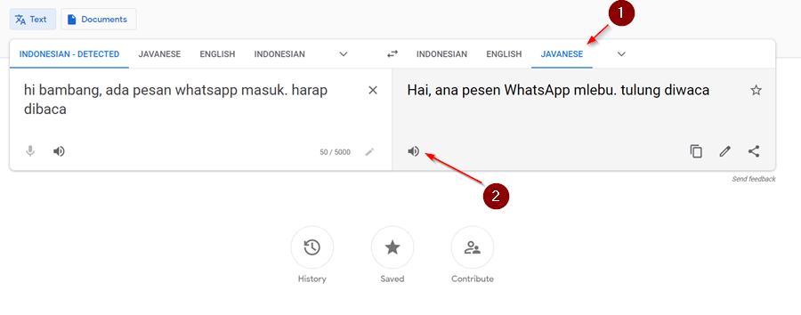 Sound of text bahasa Jawa untuk ringtone WA